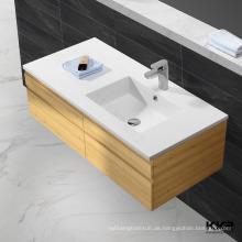 Badezimmer Waschbecken mit Schrank / Waschbecken aus Kunstmarmor / antikes Stein Waschbecken