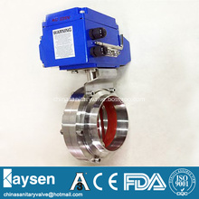Hygienic Electric Butterfly Valves Welded 3A/ISO/SMS/DS