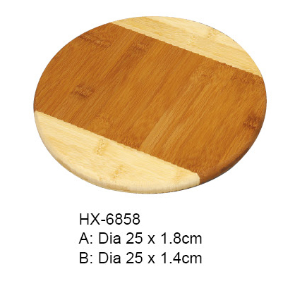 2-tone bamboo cutting board