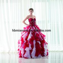 Großhandel New Fashion Chiffon Puffy Red Lace Sexy bodenlangen zweiteilige Günstige Abendkleid 2017