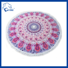 Circle Beach Towel with Tassle (QH8891212)