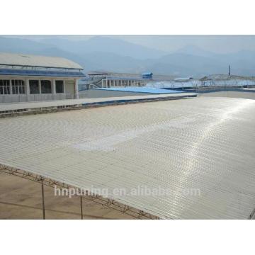 twin wall polycarbonate corrugated sheet