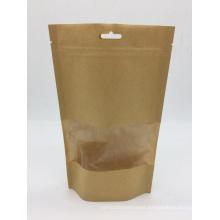 Biodegradable Kraft paper bag for coffee packaging