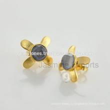 Позолоченная Золото С Бриллиантами Стад Серьги Оптовая 925 Стерлингового Серебра Серьги В Поставщик Ювелирные Изделия Gemstone