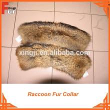Piel de mapache y cuello de piel de chaqueta