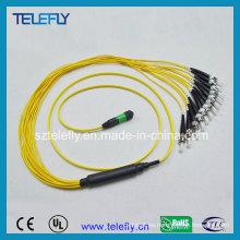 MPO-St cable de cable de remiendo óptico de fibra
