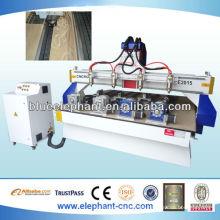 Máquina de trabajo de madera del router del CNC de la fuente de la fábrica con 4 cabezas