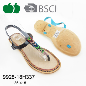 Colorful Comfortable Latest Ladies Fashion Plastic Sandal