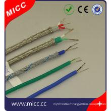 K / J / T / E / R / L-16/20/24 AWG-sil / sil / SSB-3 fil d'extension de base ansi fil thermocouple