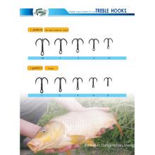 Crochet de pêche Treble forgé