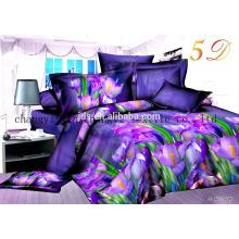 3d pulido de poliéster dispersar impresión de tela de la cama de tela