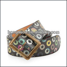 Newest unisex fashion colorful printing PU belts
