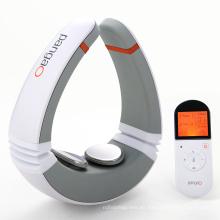 Masajeador de terapia de impulso de cuello con almohadillas de electrodos