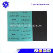 Papier de verre abrasif 9 x 11 eau assorti mouillé / sec