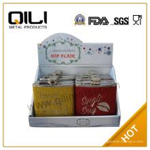 FDA 6 унций блеск фляга подарки для ее отображения бокс-сет