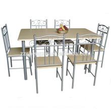 Marco de madera de mesa de madera superior Set de mesa