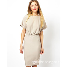 Hot Sale Factory Wholesale Casual Dress for Ladies (JK11018)