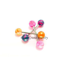 5MM Splash Print Acryl Piercing Zunge Barbell