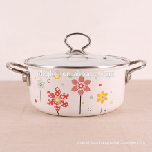 custom enamel straitpot & printed enamel cooking pot
