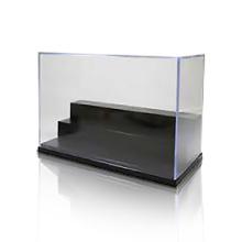 3 Steps Acrylic Display Box Cover, Crystal Acrylic Showcase / Boxes