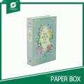 Caixa de papel de forma de livro elegante para embalagem de chá