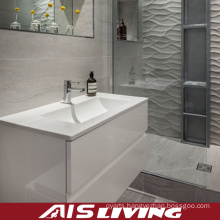 One Piece High Gloss Lacquer Bathroom Cabinets Vanity (AIS-B009)