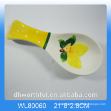 Elegant fruit figurine ceramic spoon holder