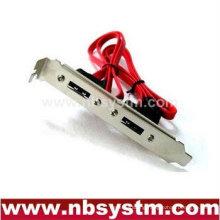 eSATA dual port bracket, SATA to eSATA bracket two port