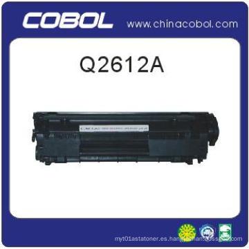 Cartucho de tóner compatible Q2612A para la serie de impresoras láser HP