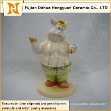 Décoration Dessin animé, décoration Dessin de cochon en céramique