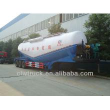 Fábrica de suministro de 3 ejes 58.5 cbm camión de transporte de cemento a granel, semirremolque cisterna