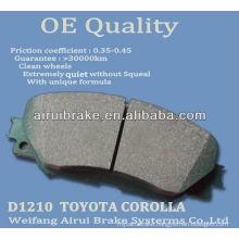 D1210 Corolla ceramic brake pad