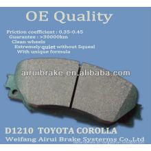 D1210 Corolla cerâmica freio pad