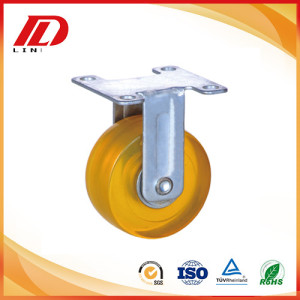 2 inch rigid caster with PVC wheels