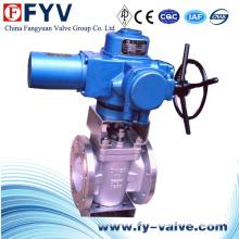 Válvula de enchufe del actuador eléctrico asentado resistente CF8m