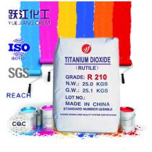 Dérivé de dioxyde de titane Rutile Fabricant TiO2 R210 pour encre