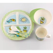 (BC-MK1003) Fashinable Design réutilisable mélamine Kids Cute Dinner Set