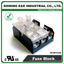 FB-M033SQ Montaje en panel 30A de 3 vías igual a Bussmann Clase M Caja de fusibles