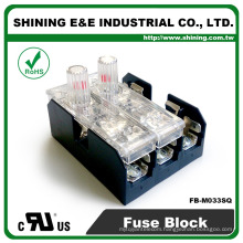 FB-M033SQ Panel Mounted 30A 3 Way Equal To Bussmann Class M Fuse Box