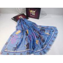 colorful women muiti digital print polyester scarf Travel Sunscreen Shawl