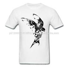 summer spring custom made white printed cotton tee t shirt