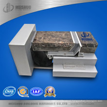 Floor to Wall Exterior Aluminum Expansion Joint Cover