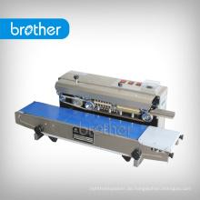 Sf-150 Bruder Marke Elektroantrieb Kontinuierliche Vertikale Typ Plastiktüte Heißsiegelmaschine Band Sealer