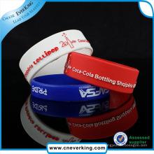 Regalo impreso de la promoción del logotipo digital de la pulsera de silicona