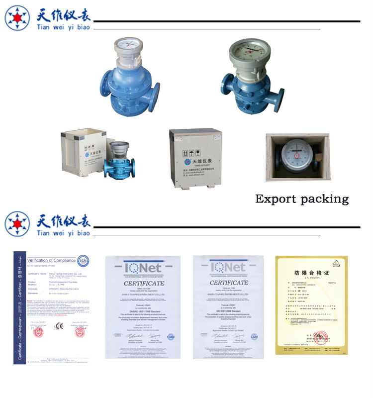 hot sales double rotator flow meter