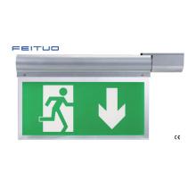 Sinal de saída, luz de emergência, sinal de saída de emergência do diodo