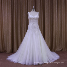Personal Tailor′s Sexy Beaded and Pleated Wedding Dress