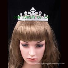 Tiara nupcial da tiara da princesa pequena da coroa do cristal de rocha