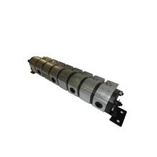 Motor de engranaje de divisor de flujo giratorio con engranaje hidráulico