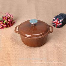 Accessoires de cuisine émaillés en gros pot de cuisson